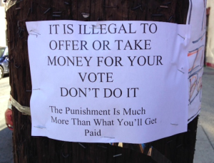 Vote buying is illegal in Hoboken